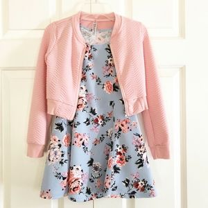 Beautees girls dress with jacket